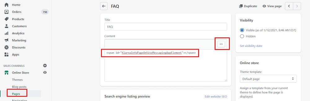 Custom markup usage screenshot